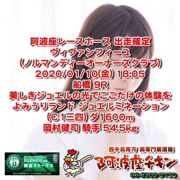【出走取消】2020年01月10日 ヴィヴァンフィーユ 出走情報