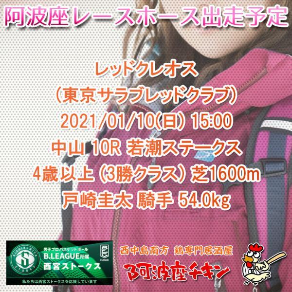 2021年01月10日 阿波座レースホース出走予定(レッドクレオス)