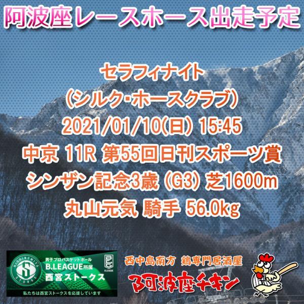 2021年01月10日 阿波座レースホース出走予定(セラフィナイト)