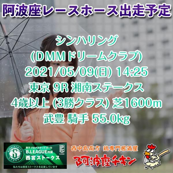 2021年05月09日 阿波座レースホース出走予定(シンハリング)